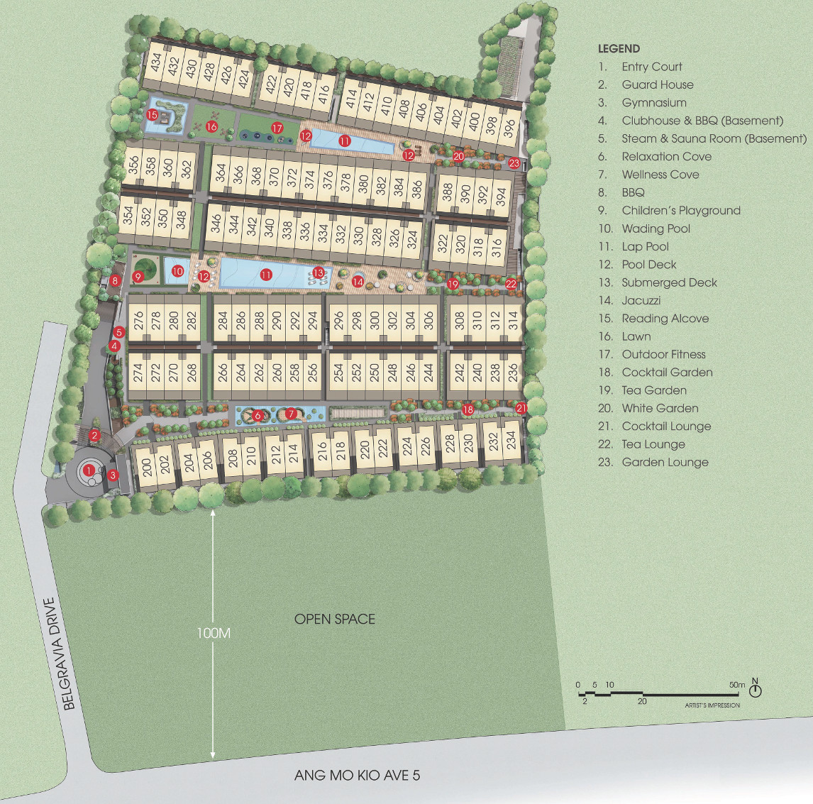 Belgravia Villas Singapore Site Plan